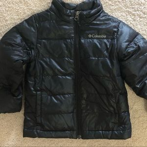 Kids black puffer coat